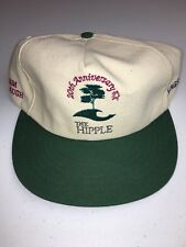 20th Anniversary The Hipple Adj Golf Hat Off White Green 100% Nat. Cotton Duck