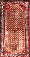 Traditional Oriental Runner Rug Wool Hand-Knotted Geometric All-Over Carpet 3x7