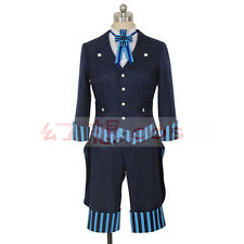 Black Butler Kuroshitsuji Book of the Atlantic Ciel suit cosplay costume w/ hat