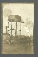 Dyersville IOWA 1912 CONSTRUCTION OF WATER TOWER 1st Ring nr Dubuque Epworth