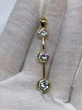 18k Gold & swarovski Diamond Pendent Brand New Necklace Sale
