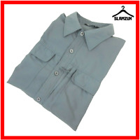 Rohan Mens Expedition Shirt Grey L Large Long Sleeve Moisture Control Outdoor