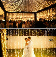 10M 100 LED Fairy Lights Warm White String Wedding Party Xmas Home Garden Decor