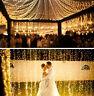 100M 600LED Lichterkette Warmweiß Weihnachten Hochzeit Außen Party Beleuchtung