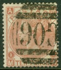 EDW1949SELL : GREAT BRITAIN 1867 Used in Beirut. Beautiful & Scarce 10 pence val