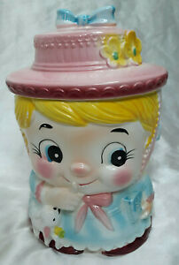 RARE Vintage Norleans Japan Cookie Jar Mary Had A Little Lamb Collectible