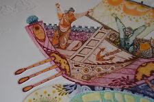 Amram Ebgi - Jonah in the whale - 10/200 Original - signiert - handcoloriert