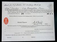 SCOTLAND - 5 old business receipts - 1880s