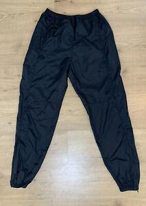 Vintage Nike Black Ankle Zip Trash Bag Athletic Ballet Dance Pants Youth M 10-12