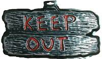 Gothic Warning Sign--KEEP OUT--Door Man Cave Teen Room Halloween Decoration Prop