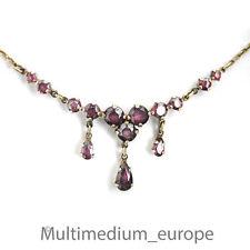 Granat Silber Collier vergoldet Halskette silver gilt collier garnet Trachten