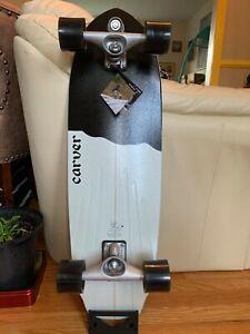 """carver surfskate 32.5"""" BLACK TIP COMPLETE C7"""