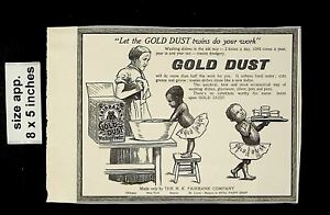 1902 Gold Dust Washing Powder Dishes Vintage Print Ad 19562