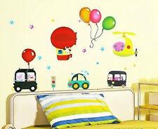 Ballons CARS hellicopter enfants autocollant mural nurserie amovible chambre