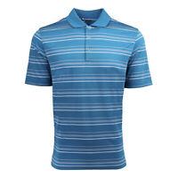 adidas Men's Puremotion Textured Stripe Polo Solar Blue/White S