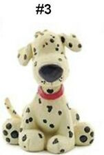 Blossom Bucket-Playful Pup--White Spotted Dalmatian Looking Dog with Red Collar
