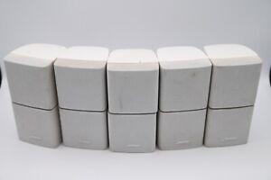 Set 5 BOSE Lifestyle Acoustimass Surround Double Cube Jewel Speakers White