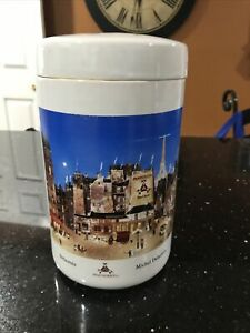 "Montecristo Michel Delacroix Ceramic Cigar Humidor Jar Rare Collectable 9.5"""