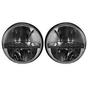 "Octane 7"" inch Round Chrome Black Dual Low/Hi HID LED Octane Headlights Pair"