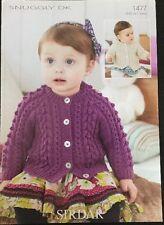 Sirdar DK Knitting Pattern Babies Girls or Boys Cardigan  Hooded  Birth/ 7Years
