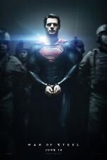 MAN OF STEEL (Superman) D/S MOVIE FILM POSTER 69x102cm Henry Cavill ADVANCE B