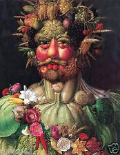 Giuseppe ARCIMBOLDO Vertumnus Art Print(Portrait of Rudolf II1590/Vegetable Head