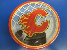"Calgary Flames NHL Pro Hockey Sports Banquet Party 9"" Paper Dinner Plates"