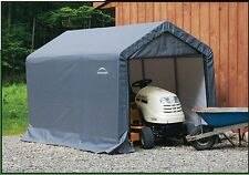 ShelterLogic 6x10x6 Storage Shed Portable Garage Steel Canopy Gray 70403