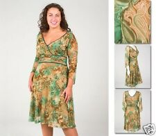 NEW!  Zaftique ULTIMATE MOTIF Dress GREEN (Last One!) 0Z / Womens 14 / Large L