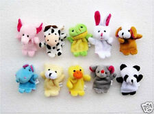 10 x Finger Animal Zoo Farm Puppets Baby Kids Girls Soft Toys Game Party Bag UK