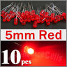 10 x 5mm 2 Pins Round Red LED Light Emitting Diode Lamp