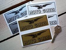 "MOTO GUZZI Oblong Eagle Bike Stickers 4"" Pair LeMans California Breva Griso V11"
