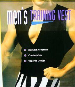 New Neoprene Men's Body Building Training Gym Vest MEDIUM