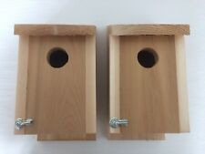 Two Cedar Bluebird Houses Handmade Fence Post or Tree Mount