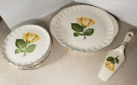 Vintage W. S. George Half Century Fine Dinnerware 1904-1954 Cake Plate Set