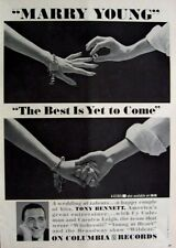 TONY BENNETT 1961 Poster Ad MARRY YOUNG the best is yet to come
