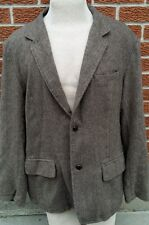 American Eagle AE Outfitters Brown Herringbone Quilted Sport Coat Blazer Jacket