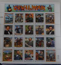 "1994 32c Civil War ""The War Between the States"" 1861-1865; Sheet of 20, MNH"