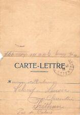 Carte Lettre guerre 14-18 ( Pas de Calais Frethun)