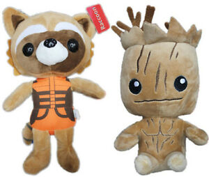 Guardians of the Galaxy Groot Rocket Raccoon Kids Soft Stuffed Toy Plush Doll
