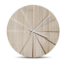 NEW LEFF AMSTERDAM SCOPE WALL CLOCK HOME DECORATION ANALOG DISPLAY ROUND NATURAL