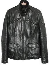 GEOX RESPIRA Womens Jacket Leather Black Size 42 US 6