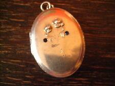 romantisches Jugendstil Medallion Rose Rosen 800er silber Art Nouveau Locket