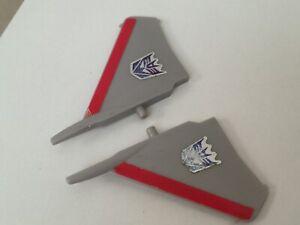 Transformers G1 Parts 1985 STARSCREAM used wing SET