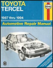 B003210XCY Toyota Tercel Automotive Repair Manual (All Sedan and Liftback Model