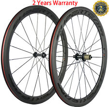Carbon Wheels 50mm Clincher Bicycle Wheelset 23mm 3k Matte Shimano 8/9/10/11S