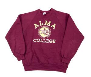 VTG 80s Super Weights Alma College Pullover Sweatshirt USA Made Michigan XL