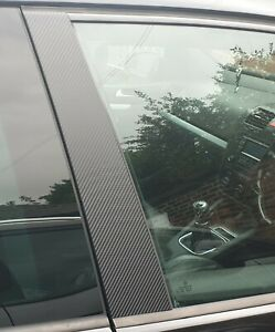 VW GOLF R32 GTI    B-Pillar Overlays/Repair Vinyl Stickers  2003 to 2010