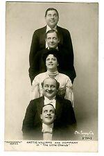 Early Actors -ACTRESS HATTIE WILLIAMS & COMPANY-Comedian RPPC Rotograph Postcard