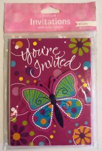 +Butterfly Invitations Birthday Wedding Event Spring Summer Rebirth